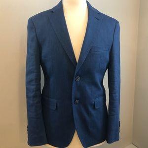 Calvin Klein Solid Blue Jacket Size 36S